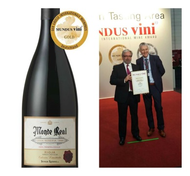Monte Real wins Gold Mundus Vini Award