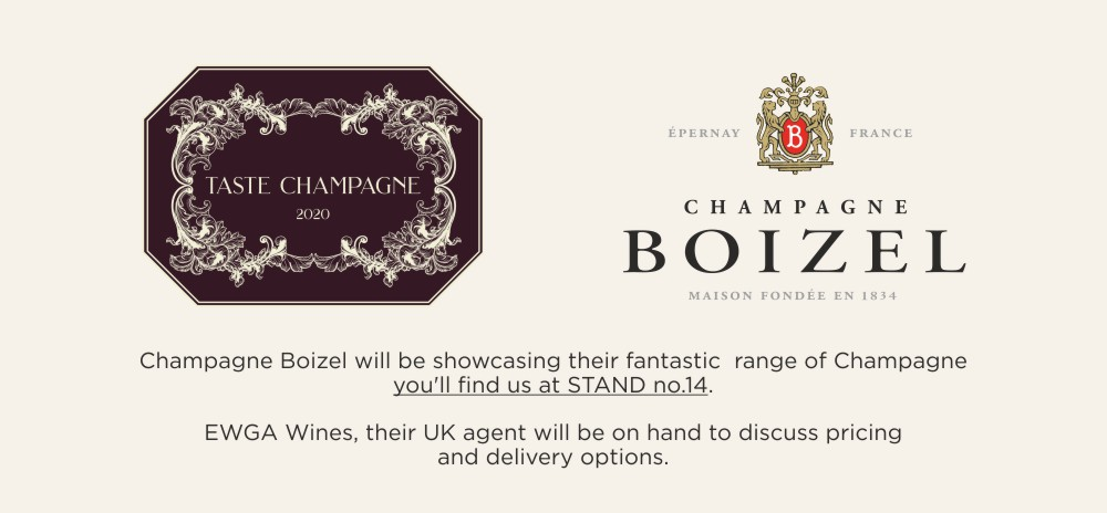 We will be joining Champagne Boizel at Taste Champagne Event in London